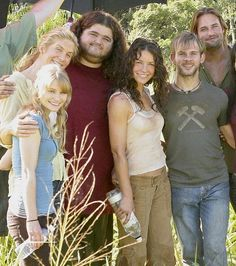 Claire, Juliet, Hurley, Kate, Charlie & Sawyer