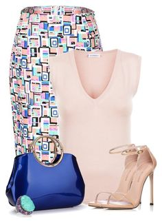 A fashion look from June 2017 featuring yoga tanks, high-waist skirt and stuart weitzman shoes. Browse and shop related looks. Classy Outfits, Pretty Outfits, Chic Outfits, Work Fashion, Fashion Shoes, Fashion Outfits, Womens Fashion, Professional Outfits, Outfit Combinations