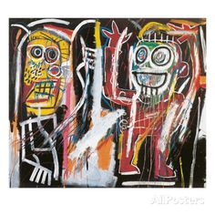 オールポスターズの ジャン=ミシェル・バスキア「Dustheads, 1982」ジクレープリント