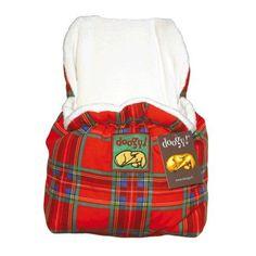 Extramullida con interior extrasuave, mochila escocesa para llevar a su perro a todas partes.