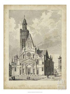 Eglise de St. Etienne-Du-Mont Giclee Print by A. Pugin at Art.com