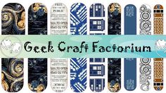Doctor Who Nail  Decal Wraps #3