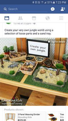 Sensory table jungle extension