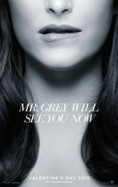 Fifty Shades of Grey - rather suggestive teaser poster