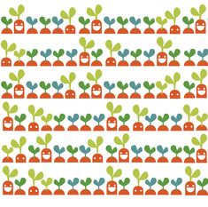 JME Carrots Pattern - Designed by Lucia Gaggiotti Carrots, Pattern Design, Graphic Design, Illustration, Food, Essen, Carrot, Illustrations, Meals