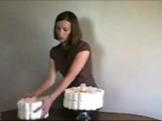 Amazing four minute video on how to make a diaper cake