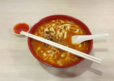 Chinese noodle Soup - at 100AM food court (Singapore)