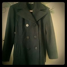 STEVE MADDEN PEA COAT Perfectly Used  No flaws at all Black Classic Pea Coat Sz med Steve Madden Jackets & Coats Pea Coats