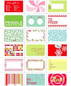 Big list of Free Christmas Gift Tags and Labels