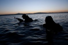 Navy SEAL night swim and beach recon for Navy SEAL workouts go to http://sealgrinderpt.com/products/freak-frogman-workouts/