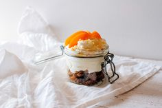heaven in a jar- french toast crumbs, whipped cream and apricot sugar