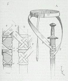 Не знаете как носить свой меч? Тогда прорисовки Вилле Ле Дюка (19 в.) помогут вам!