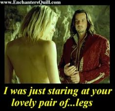 Legend of the Seeker meme - Cara Mason, Darken Rahl - Let's face it, he's not staring at her legs...