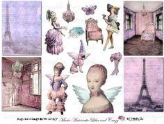 Marie Antoinette collage sheet.