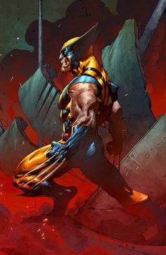 Wolverine X-Men Marvel Arte Dc Comics, Marvel Comics Art, Anime Comics, Wolverine Art, Logan Wolverine, Hq Marvel, Marvel Heroes, Comic Books Art, Comic Art