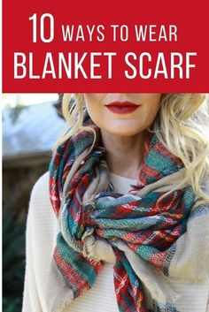 Plush 2 Sided Reversible Red Black Cashmere Blend Check Print Blanket Wrap Scarf
