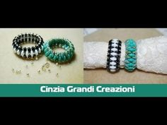 tutorial anello fiocco con twin beads/superduo come fare un anello con perline - YouTube