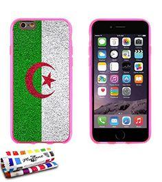 Muzzano Le Glossy Coque souple Motif Drapeau Algérie Rose avec Chiffon/Stylet pour iPhone 5S