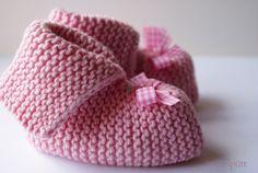 ♥ Baby-Schühchen Rose ♥  von ♥ Winzelpütt auf DaWanda.com