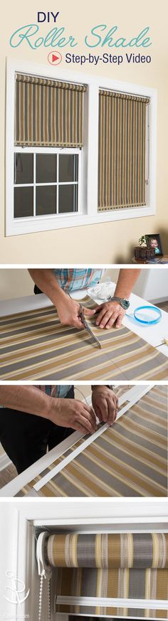 Learn how to create your own custom roller shades. A great, no-sew project!
