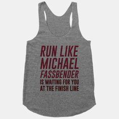 HAHA! I so need this shirt!- might be the only way I'd run...