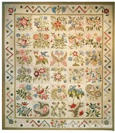 Caswell Quilt is inspired by a carpet. No longer available from Homestead Hearth. Design by Corliss Searcy
