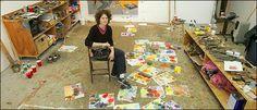 Portrait of the Artist as a Paint-Splattered Googler - New York Times
