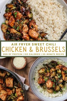 Air Fryer Dinner Recipes, Air Fryer Recipes Easy, Air Fryer Chicken Recipes, Low Calorie Chicken Recipes, Party Platters, Whole Food Recipes, Healthy Recipes, Qinuoa Recipes, Sweet Chili Chicken