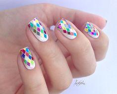 Mosaic nails.