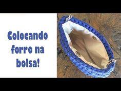 COMO COLOCAR FORRO EM BOLSA DE CROCHÊ! - YouTube