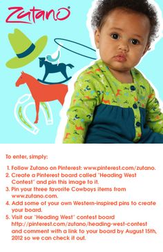 Zutano Pinterest Contest! Follow the above steps for a chance to win one of two, 5-piece, Mix and Match, Zutano Sets.