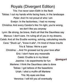 """Royals"" parody - Divergent edition"