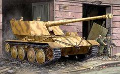 KruppArdelt Waffentrager 88mm PAK-43, cortesía de Trumpeter.