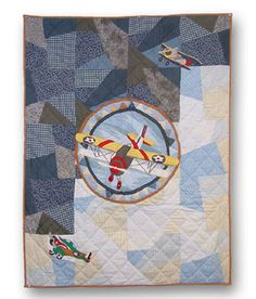 Quilted Airplane Crib Quilt
