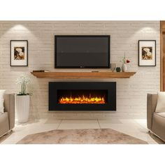 Newest Photographs Electric Fireplace design Tips Kreiner Wall Mounted Flat Panel Electric Fireplace Wall Mounted Fireplace, Linear Fireplace, Home Fireplace, Fireplace Inserts, Living Room With Fireplace, Fireplace Design, Basement Fireplace, Gas Wall Fireplace, Tv Stand With Fireplace