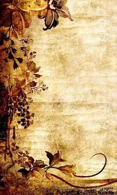 Beautiful for fall wedding invitations Éphémères Vintage, Papel Vintage, Vintage Paper, Old Paper Background, Background Vintage, Background Images, Flower Backgrounds, Wallpaper Backgrounds, Wallpapers