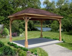 JC~ this is our new inspiration for a backyard pavilion. Going to build one by the pool (where  the concrete slab is) out of all that reclaimed wood from Anderson's and leftover tin from our barn! I have a better picture of one out of my Country Living magazine. CAN'T WAIT! : )