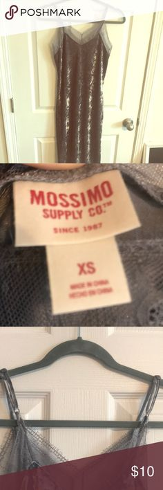 Mossimo Xs Dress Velvet silver grey dress beautiful, and love the material! No tags but never worn! Mossimo Supply Co Dresses