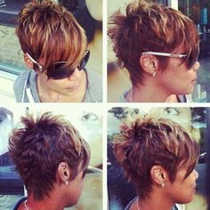 Short layered pixie cut have large range of short hairstyles.To highlight your eyes and neck these pixie haircuts are best for women.These all are very funky and stylish pixie haircut.In this article i have list out 10 short layered pixie haircut for you Short Textured Haircuts, Short Pixie Haircuts, Pixie Hairstyles, Hairstyle Short, Hairstyles 2016, Layered Haircuts, Everyday Hairstyles, Textured Hairstyles, Girl Haircuts