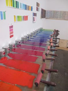 Polly Apfelbaum colors. Rome Prize winner 2012.