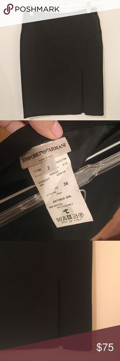 Emporio Armani sexy side slit skirt In excellent condition. Made in Italy. Feel free to make an offer! all my prices are flexible :). i also include any $10 and under item for free with any purchase! Emporio Armani Skirts Midi