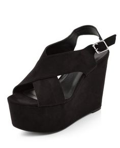 Sorte kilehæle sandaler fra New Look (galla sko)