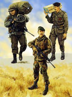 Argentine commando during the Falklands War