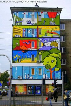 who knew Poland people are so alive and colorful.... Love this graffiti