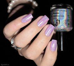 LMcosmetic - Silver Shape #glitter #purple #lavender #nails #nailart - bellashoot.com