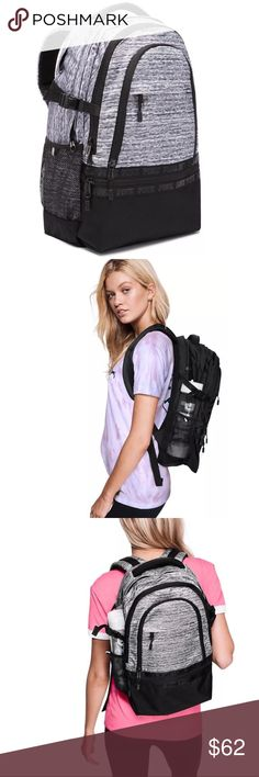 Victoria's Secret Pink Collegiate Backpack Victoria's Secret Pink Collegiate Backpack Padded straps with mesh overlay Zippered padded laptop sleeve Mesh side pockets PINK Victoria's Secret Bags Backpacks