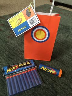 Having a Nerf party and looking for some fun and great ideas for the kids to take home as party favors? We have gathered up some of the best Nerf party favor ideas. Nerf Birthday Party, Nerf Party, Boy Birthday, Birthday Ideas, Birthday Favors, Nerf Cake, Nella The Princess Knight, Party Favor Bags, Goodie Bags
