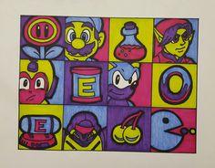 Old school videogame pop art