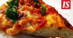 Tässä on hyvä pizzapohjan ohje. Sitä kohotetaan pitkään kylmässä, mutta se on kaiken odottelun arvoinen. Lassi, Lasagna, Quiche, Risotto, French Toast, Pizza, Bread, Breakfast, Ethnic Recipes