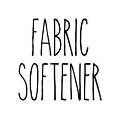 Fabric Softener - Rae Dunn Inspired Vinyl Sticker - Laundry Room Home Organization Farmhouse - Die C Diy Plastic Bag Holder, Tide Pods Container, Laundry Pods, Fish Lamp, Clay Fairy House, Snowman Faces, Pumpkin Centerpieces, Static Cling, Light Crafts